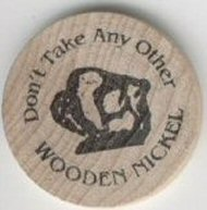 Wooden Nickel Front
