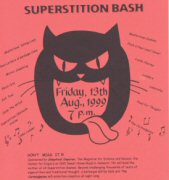 Superstition's event flyer