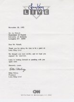 Larry King Letter