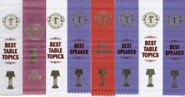 Toastmaster ribbons
